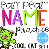 Back to School Easy Peasy Name Practice - Cool Cat - Set 1