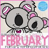 Easy Peasy Name Practice - February - Pre-K, Preschool, Ki
