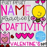 Easy Peasy Name Practice & Love Bug Craftivity - Valentine's Set