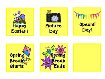 Pattern Practice Calendar Cards for April