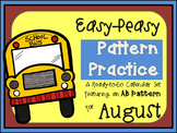 Pattern Practice Calendar Cards for August