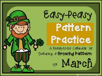 Pattern Practice Calendar Cards for March