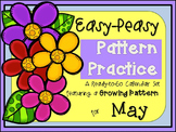 Pattern Practice Calendar Cards for May