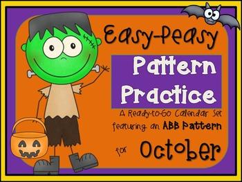 Pattern Practice Calendar Cards for October
