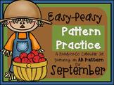 Pattern Practice Calendar Cards for September