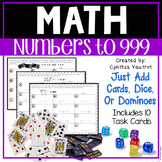 Math Centers Numbers to 999 for Number Sense