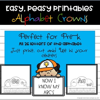 Easy, Peasy Printables: ALphabet Crowns