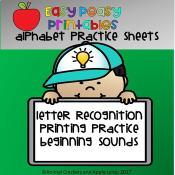 Easy, Peasy Printables: ALphabet Practice Sheets
