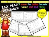 Easy, Peasy Printables: I know Letter Sounds Color, Cut and Paste