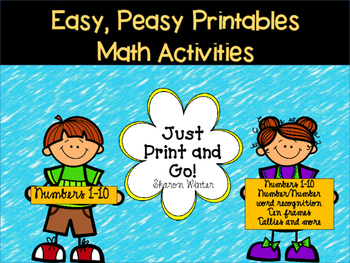 Easy, Peasy Printables: Math Activities 1-10