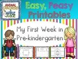 Easy, Peasy Printables: My First Week in Pre-Kindergarten
