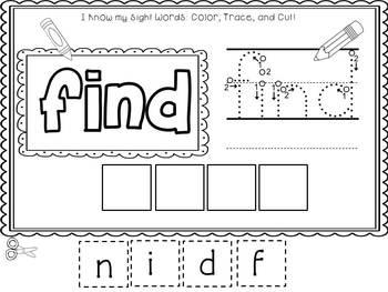 Easy, Peasy Printables: Pre-k and K Sight Words Worksheets Pre-Primer Set