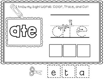 Easy, Peasy Printables: Pre-k and K Sight Words Worksheets Primer Set