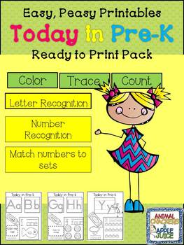 Easy, Peasy Printables: Today in  Pre-K Pack