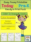 Easy, Peasy Printables: Today in  Pre-K Pack