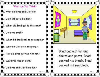 Easy Peasy Reader - Brad's Camping Trip (Blends) (OG)