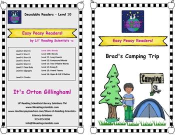Easy Peasy Decodable Reader - Brad's Camping Trip (Blends) (OG)