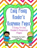 Easy Peasy Reader's Response Prompts For Primary Grades