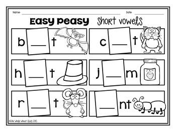 Easy Peasy- Short Vowels