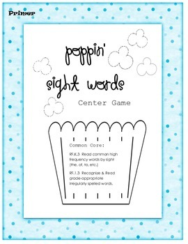 Easy Peasy Sight Word Centers (Primer)