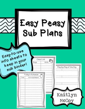 Easy Peasy Sub Plans