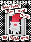 Easy-Peasy Torn Paper Santa Craft