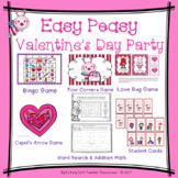 Valentine's Day Party Easy Peasy Pack - Bingo, Games, Valentine Cards