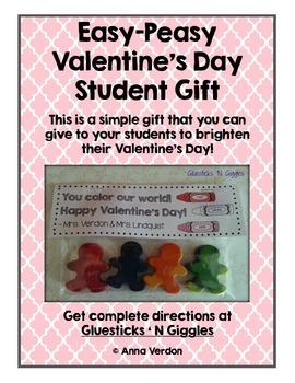 Easy-Peasy Valentine's Day Student Gift FREEBIE
