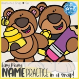 Easy Peasy in a SNAP ● Bear Set 1 ● One Class Set of Name