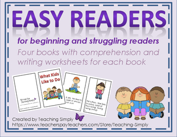 Phonics Easy Reader Books - Beginning and Struggling Readers - RTI
