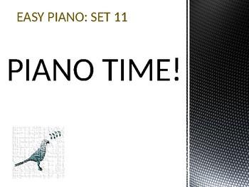 Easy Piano Songs Set 11