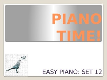 Easy Piano Songs Set 12