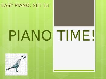 Easy Piano Songs Set 13