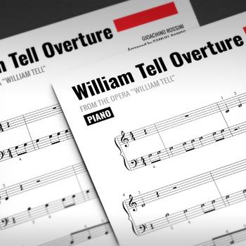 Easy Piano: William Tell Overture - Gioachino Rossini