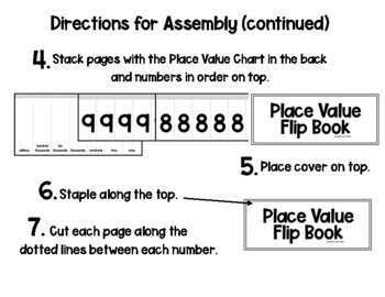 Easy Place Value Flip Book