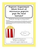 Easy Popcorn Experiment