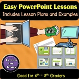 Easy PowerPoint Lesson Plans, Assignments, and Examples