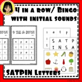 4 in a row/ Bingo with initial sounds board game - SATPIN Letters