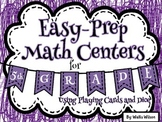 Easy Prep 5th Grade Math Centers with Cards and Dice