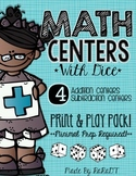 Math Centers With Dice! {Addition & Subtraction Pack}