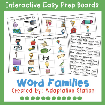 Easy Prep Boards: Word to Picture
