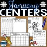 Worksheets for Kindergarten January