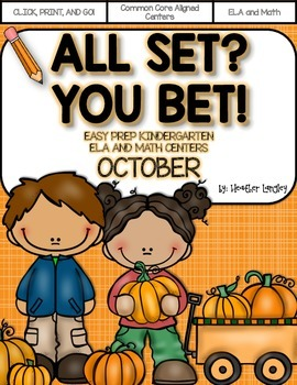 Easy Prep Centers OCTOBER: All Set? You Bet!