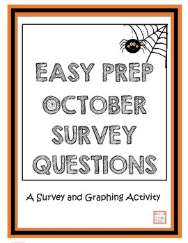 Easy Prep Halloween Survey and Graphing Activity