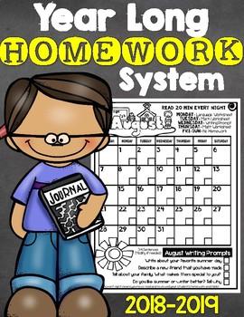 Easy Prep Year Long Homework System 2017-2018