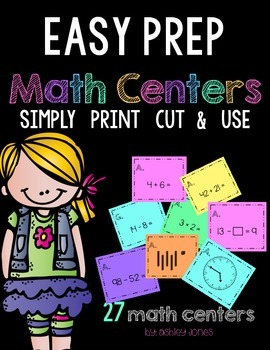 Easy Prep Math Centers