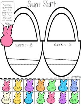 Easy-Prep Math  Easter Centers:  Peeps All Around