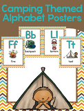 Easy Prep/Print & Hang Camping Themed Alphabet Posters