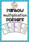 Easy Prep Rainbow Multiplication Posters