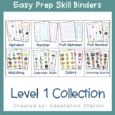 Easy Prep Skill Binders Level 1 Collection
